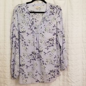 Loft Asian Inspired Floral Tunic NWOT Size M